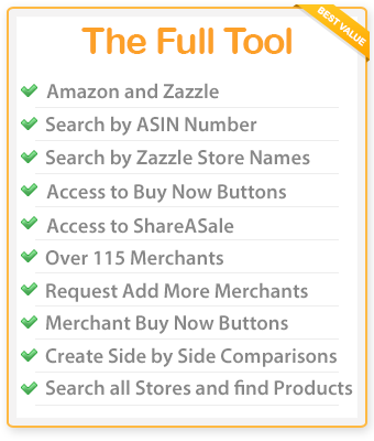 If you are looking for the best tool for Amazon, ShareaSale and Zazzle associates, then look no further than Easy Product Displays! Get full access to all the merchants in our tool and put your affiliate marketing into overdrive! Try it for 3 days free with a year subscription.