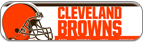 Women's Cleveland Browns Sterling Silver with Austrian Crystals Necklace